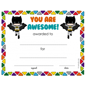 Batman You Are Awesome Award (Fillable)