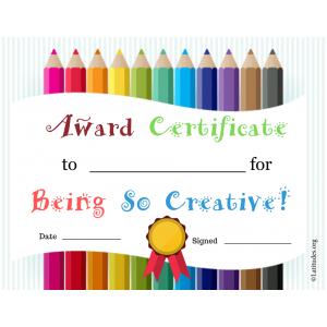 Being So Creative Award (Fillable)