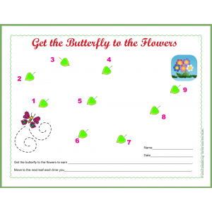 Get the Butterfly to Flowers Sticker Behavior Chart