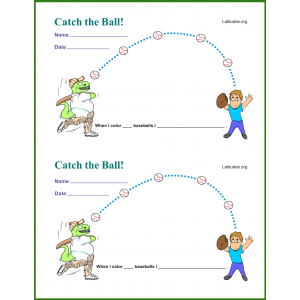 Player Catch the Ball Behavior Chart