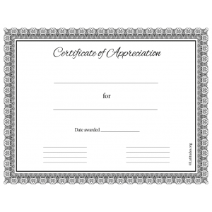 Certificate of Appreciation Formal Classic (Fillable)