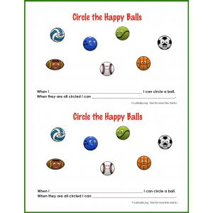 Happy Sports Balls Behavior Chart