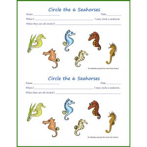 Seahorses Behavior Chart