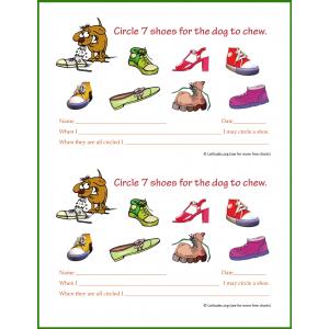 Shoes for Dog Behavior Chart