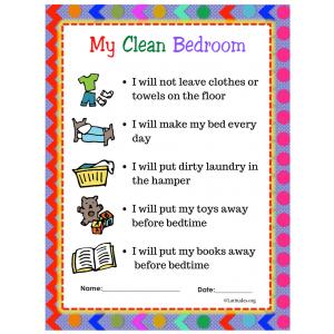 Clean Bedroom Contract PreK Primary
