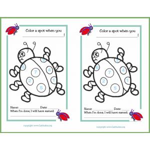 Spots Ladybug Behavior Chart (Fillable)