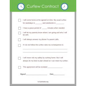 Curfew Contract