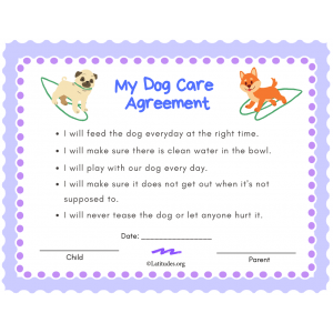 My Dog Care Agreement Primary