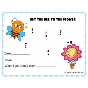 Get the Bee to Flower Dot to Dot PreK Reward Chart (Fillable)