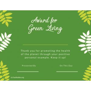 Green Living Award