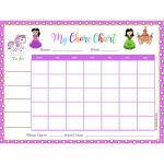 Happy Princess Chore Chart (Fillable)