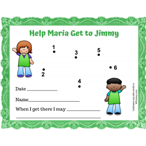 Help Maria Get to Jimmy Dot to Dot Behavior Chart (Fillable)