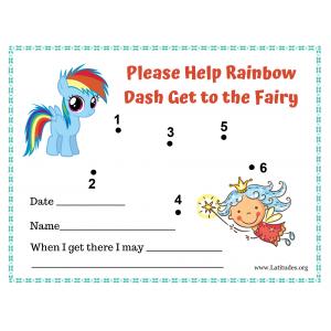 Help Rainbow Dash Get to Fairy Toddler Reward Chart (Fillable)