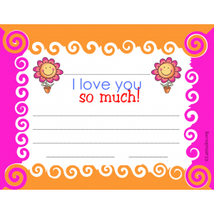 I Love You So Much Certificate (Fillable)