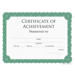Intermediate Achievement Certificate