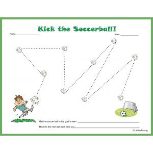 Kick the Soccer Ball Star Chart