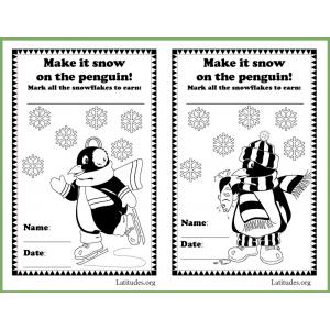 Make Snow Penguin Behavior Chart