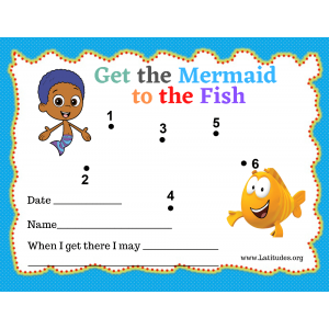 Mermaid to Fish Dot to Dot Toddler Reward Chart (Fillable)