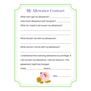 My Allowance Contract (Fillable)