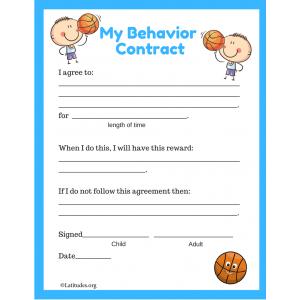 My Basketball Behavior Contract