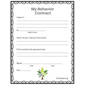 My Behavior Contract Tree Style