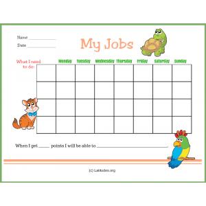 My Jobs Primary Chore Chart