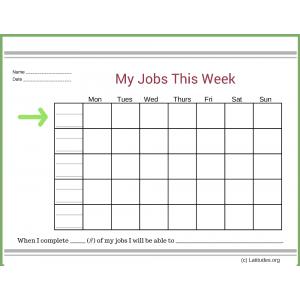 My Jobs this Week Intermediate Chart (Fillable)