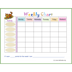 Pastel Weekly Behavior Chart (Fillable)