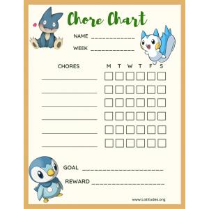 Pokemon Weekly Chore Chart (Fillable)