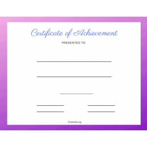 Purple Certificate of Achievement