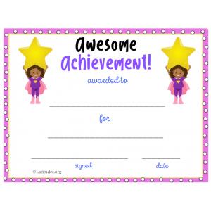 Purple Star Awesome Achievement Award