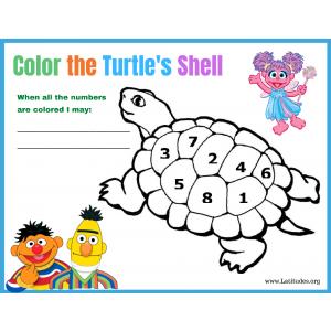 Sesame Street Color the Turtles Back Behavior Chart (Fillable)