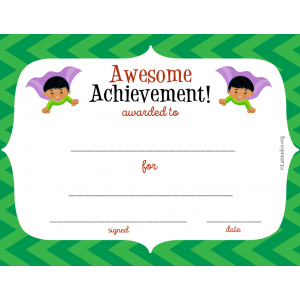 Super Boy Awesome Achievment Award (Fillable)