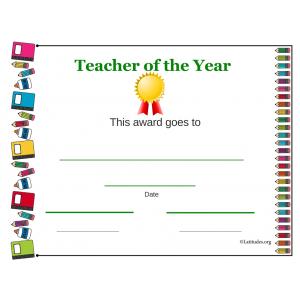 Teacher of the Year Award Elementary