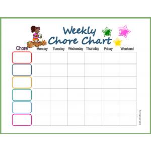 Weekly Star Chore Chart