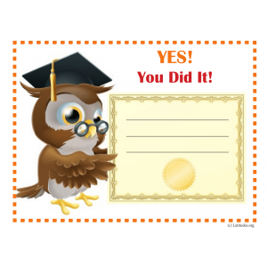 Wise Owl Achievement Certificate